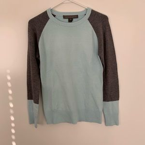 French connection blue and gray sweater
